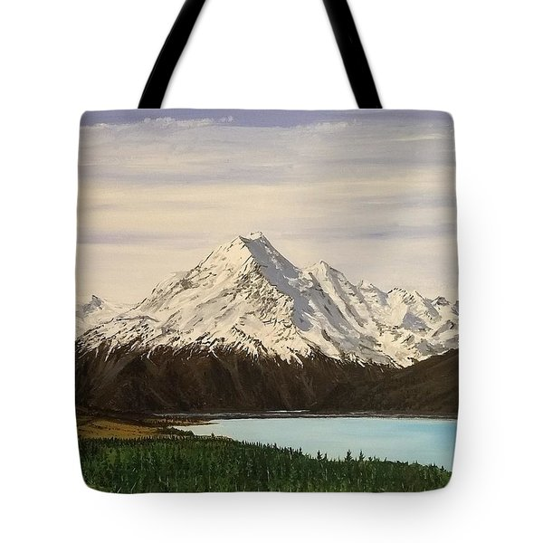 New Zealand Lake Tote Bag