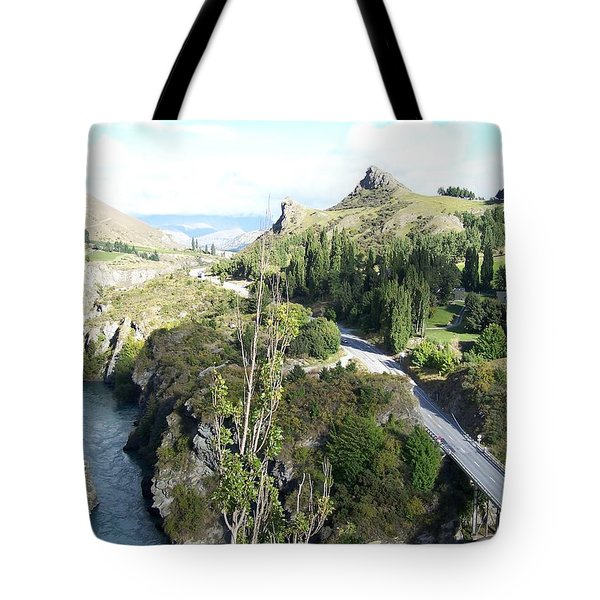 Tote Bag featuring the photograph New Zealand Scene by Constance DRESCHER