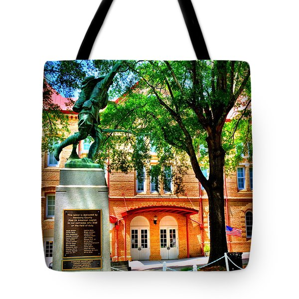 Tote Bag featuring the photograph Newberry Opera House by Lisa Wooten