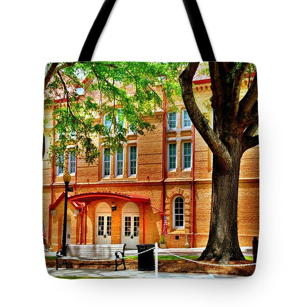Tote Bag featuring the photograph Newberry Opera House Newberry Sc by Lisa Wooten