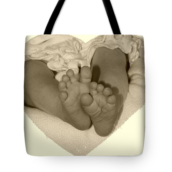 Newborn Feet Tote Bag