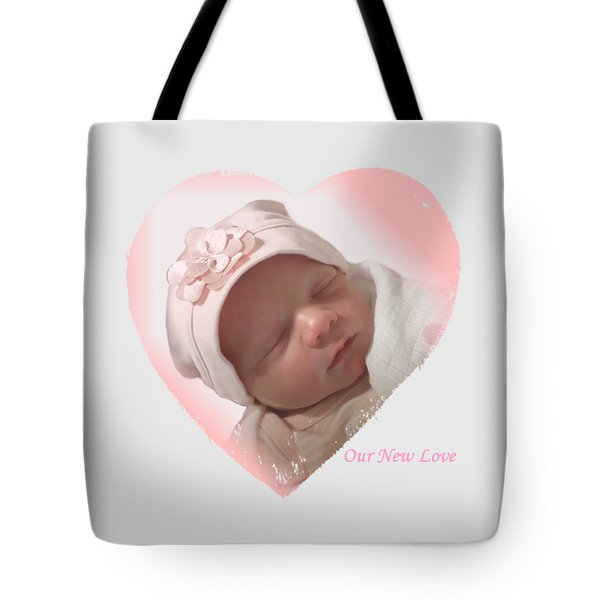Newborn Pink Heart Tote Bag