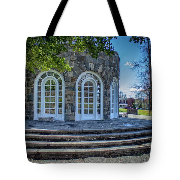 Newburgh Downing Park Shelter House Side View Tote Bag