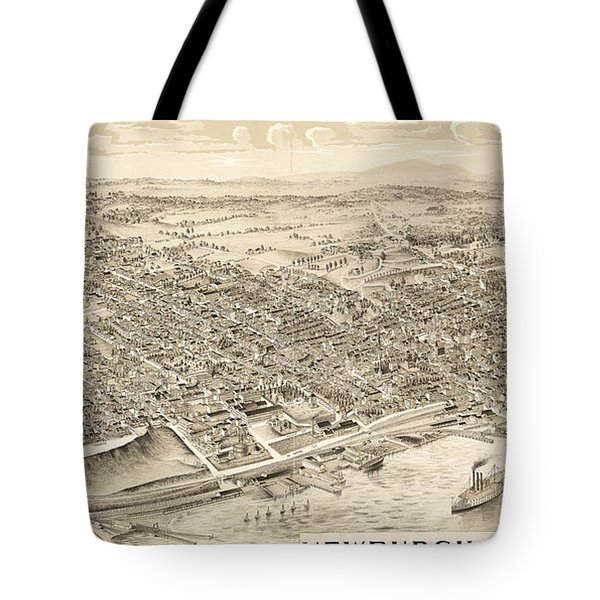 Newburgh Ny Birds Eye Drawing Tote Bag