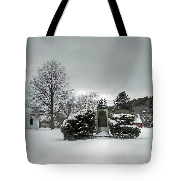 Tote Bag featuring the photograph Newbury Lower Green by Wayne Marshall Chase
