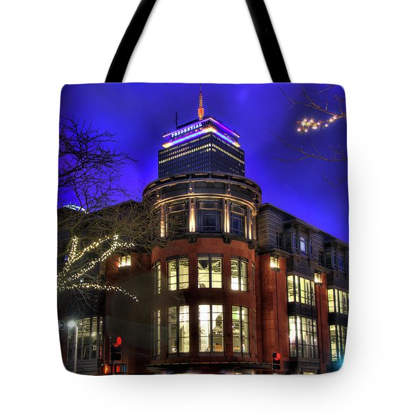 Tote Bag featuring the photograph Newbury Street And The Prudential - Back Bay - Boston by Joann Vitali