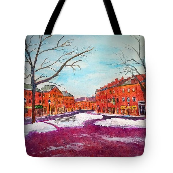 Newburyport Ma In Winter Tote Bag