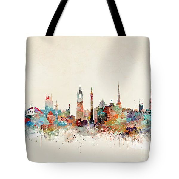 Tote Bag featuring the painting Newcastle England by Bri B