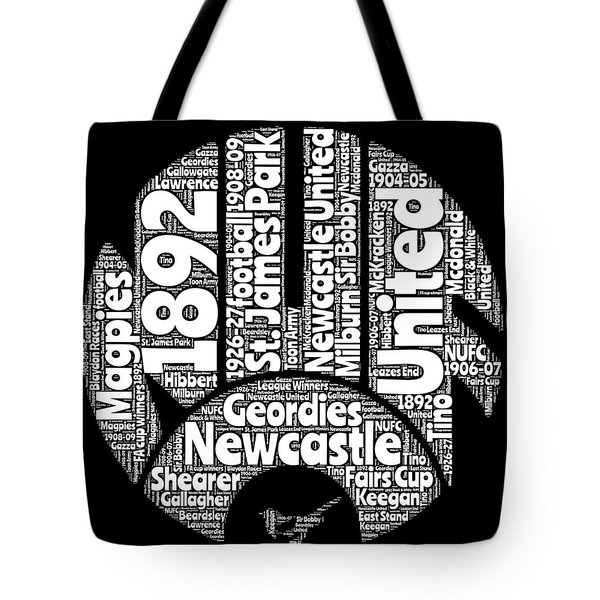 Newcastle United Football Club Word Art Tote Bag