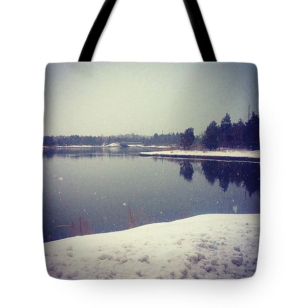 Cold Day By The Water Tote Bag
