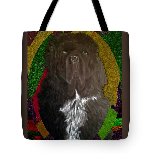 Tote Bag featuring the drawing Newfie Colors by Michelle Audas