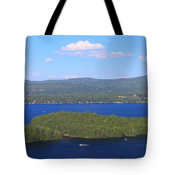 Newfound Lake Summer View From Mount Sugarloaf Tote Bag
