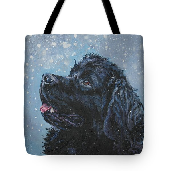 Newfoundland In Snow Tote Bag