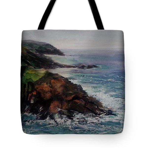 Newlyn Cliffs 2 Tote Bag