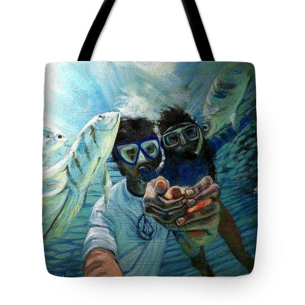 Honeymoon Selfie Tote Bag