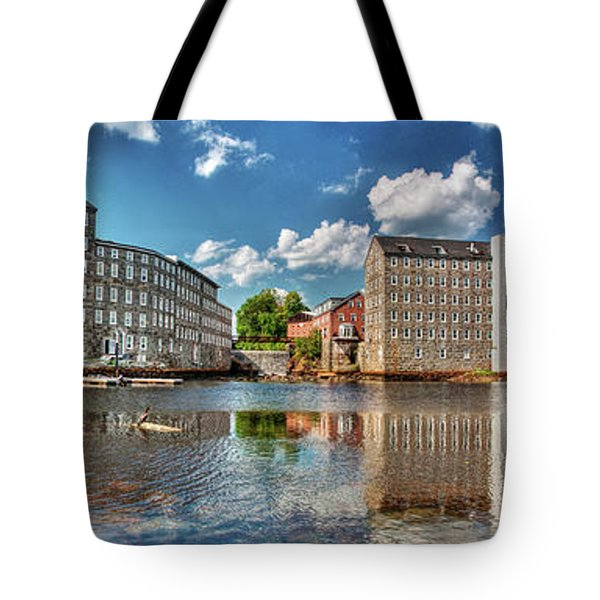 Tote Bag featuring the photograph Newmarket Mills by Wayne Marshall Chase