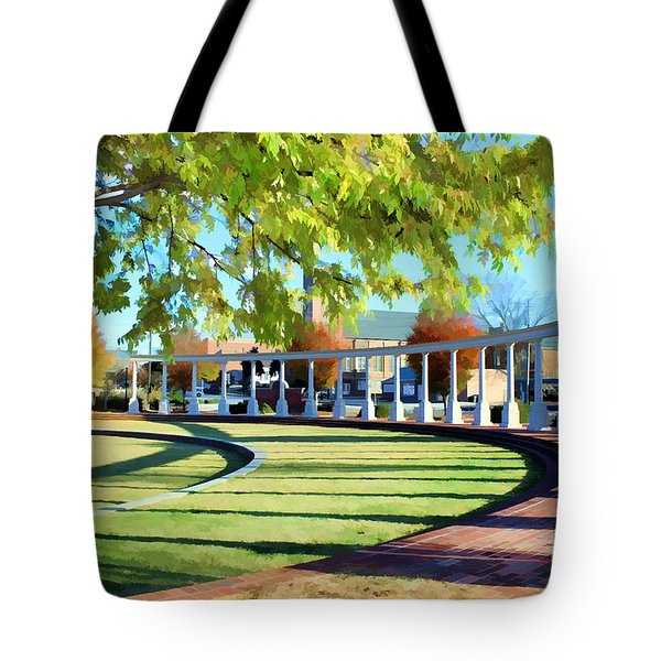Tote Bag featuring the photograph Newnan Park Ampitheatre by Roberta Byram