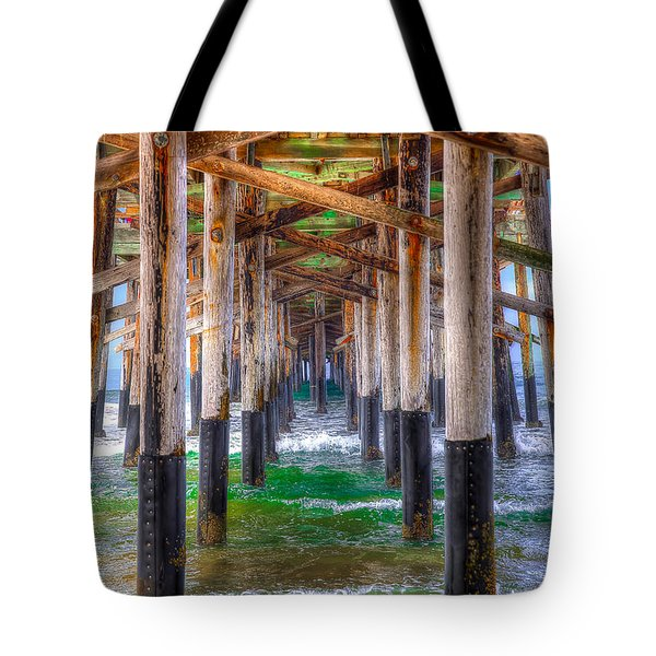 Tote Bag featuring the photograph Newport Beach Pier - Summertime by Jim Carrell
