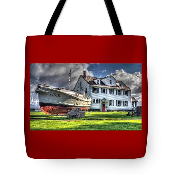 Newport Coast Guard Station Tote Bag