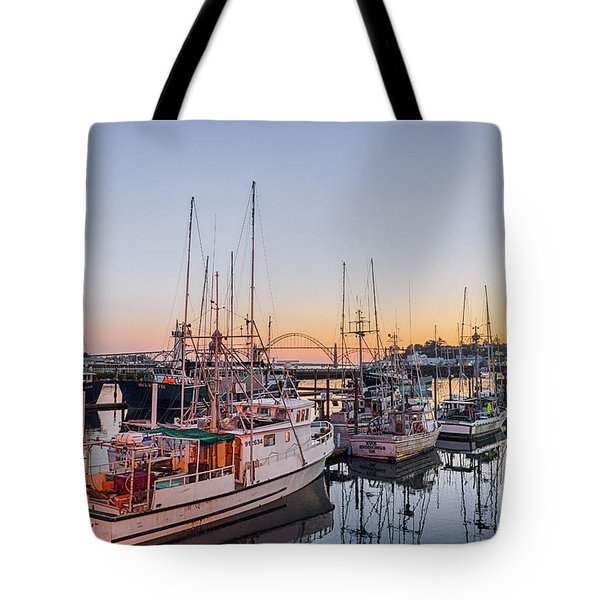Newport Harbor At Dusk Tote Bag