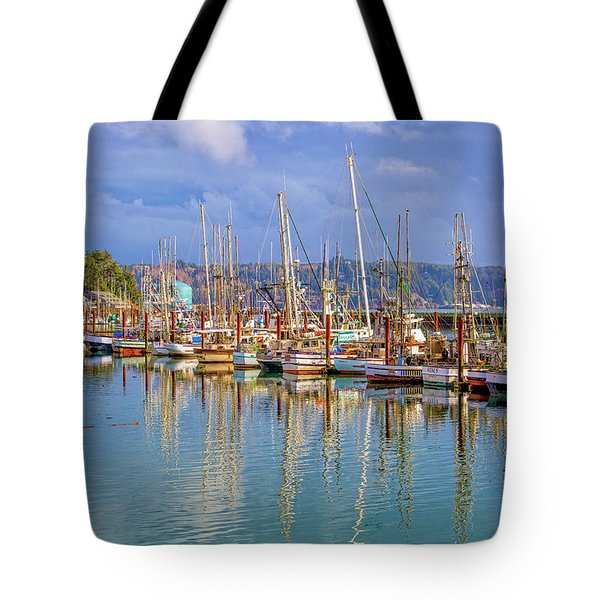 Tote Bag featuring the photograph Newport Harbor by Dennis Bucklin