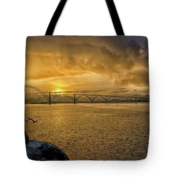 Newport Morning Tote Bag
