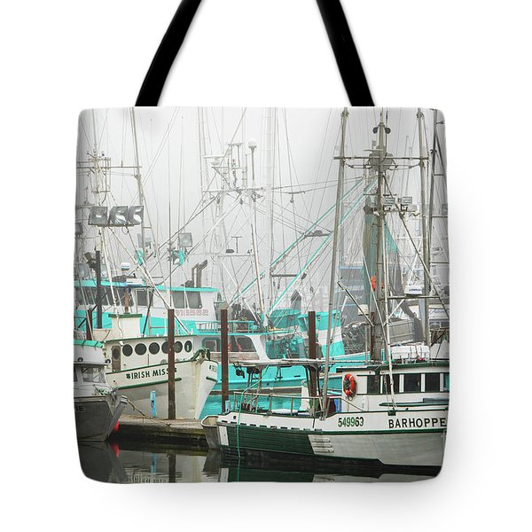 Newport, Oregon Fishing Fleet Tote Bag by Jerry Fornarotto