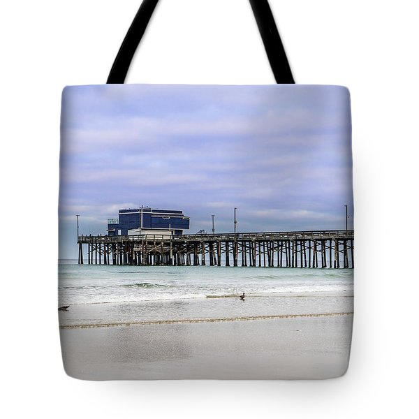 Newport Pier Tote Bag by Jeremy Farnsworth