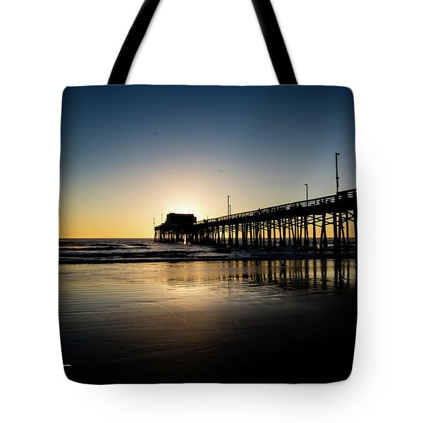 Tote Bag featuring the photograph Newport Pier by T A Davies