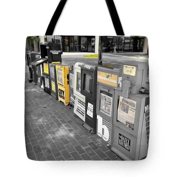 Newspaper Boxes Tote Bag