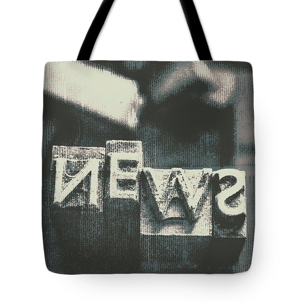 Newspaper Printing Press Art Tote Bag