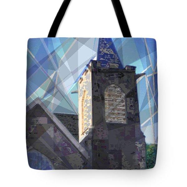 Newtown Steeple Tote Bag by Vickie G Buccini