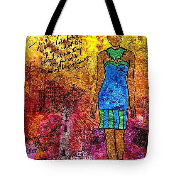Next Steps Tote Bag by Angela L Walker