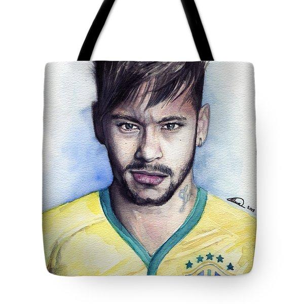 Neymar Tote Bag by Alban Dizdari