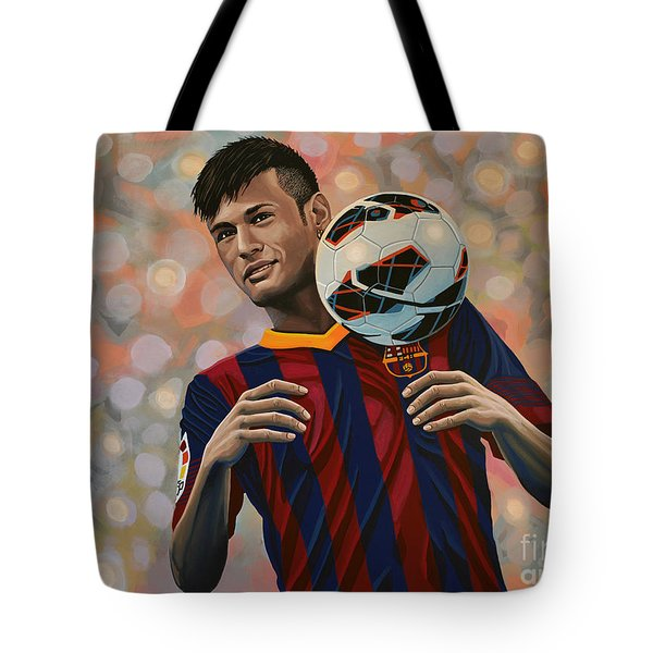 Neymar Tote Bag by Paul Meijering