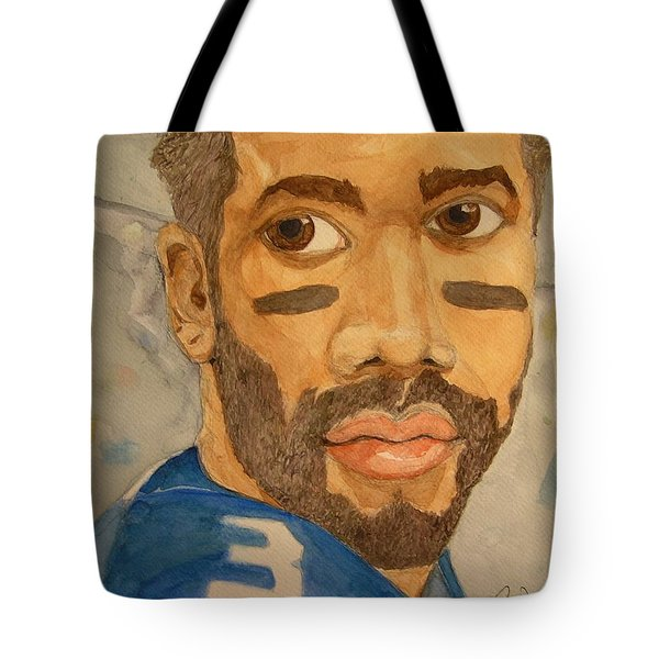 Tote Bag featuring the painting New School Football Seattle by Rand Swift