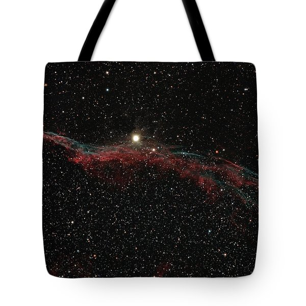 Ngc 6960, The Western Veil Nebula Tote Bag by Rolf Geissinger