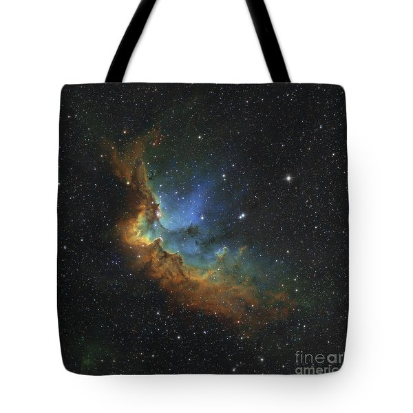 Ngc 7380 In Hubble-palette Colors Tote Bag by Rolf Geissinger