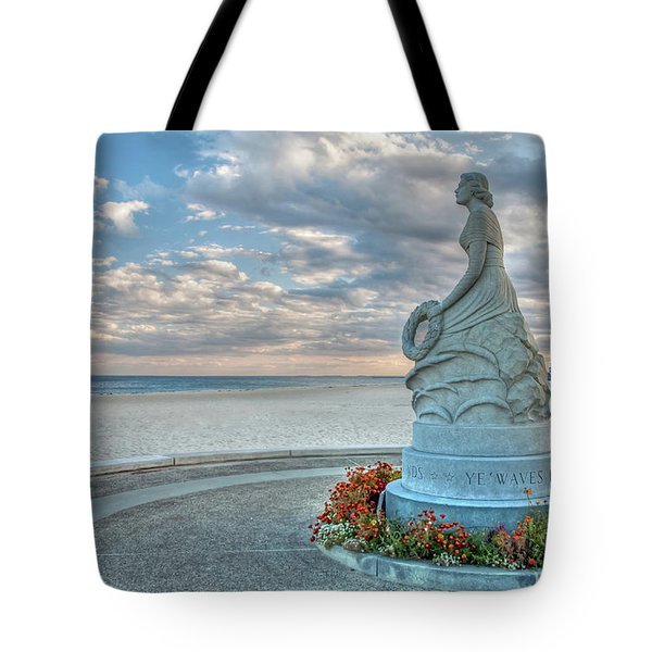 Tote Bag featuring the photograph New Hampshire Marine Memorial by Wayne Marshall Chase
