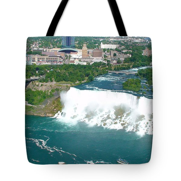 Niagara American And Bridal Veil Falls  Tote Bag