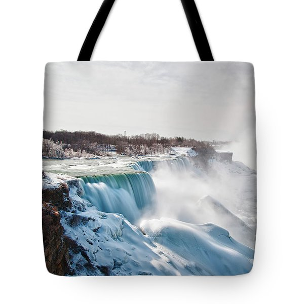 Tote Bag featuring the photograph Niagara Falls 4589 by Guy Whiteley