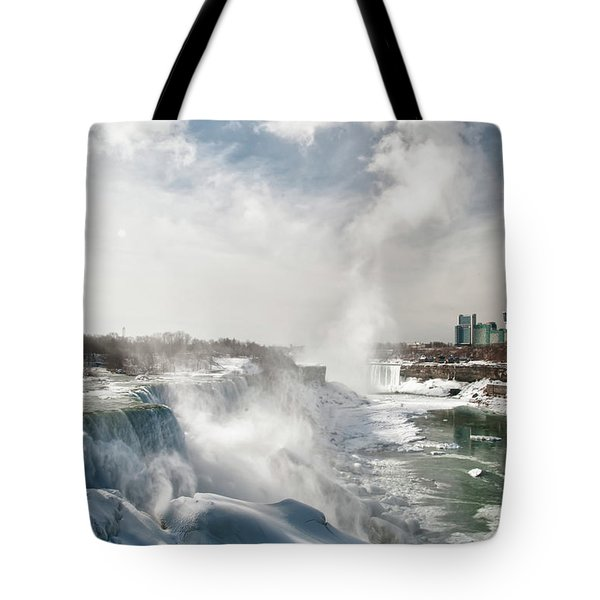 Tote Bag featuring the photograph Niagara Falls 4601 by Guy Whiteley
