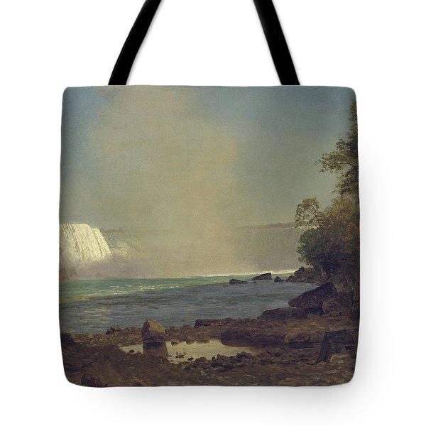 Niagara Falls Tote Bag by Albert Bierstadt