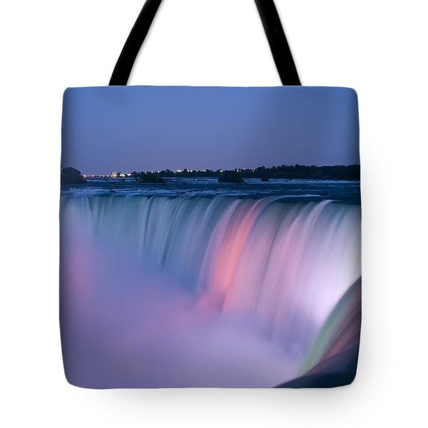 Niagara Falls At Dusk Tote Bag