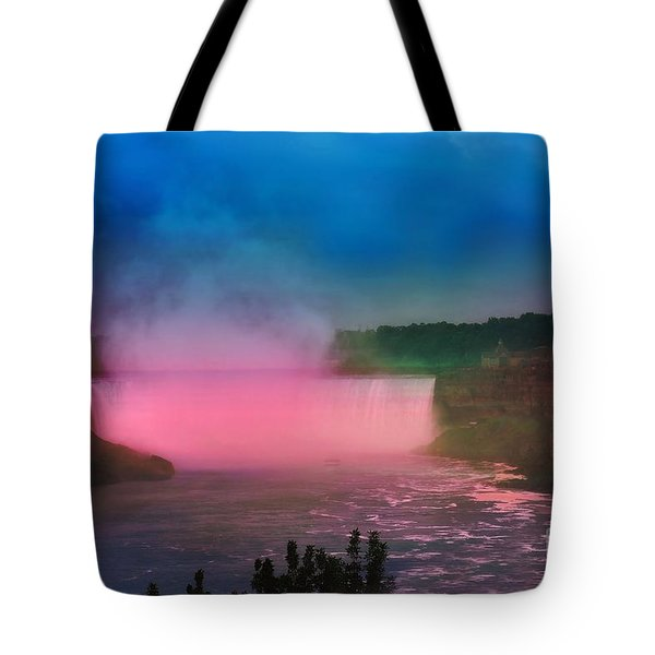 Niagara Falls At Night Tote Bag