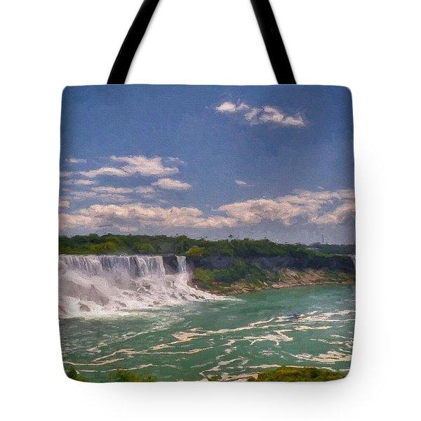 Fall In Niagara Falls Tote Bag