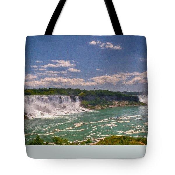 Fall In Niagara Falls Tote Bag by Charmaine Zoe