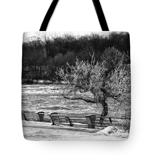Tote Bag featuring the photograph Niagara Falls Ice 4514 by Guy Whiteley