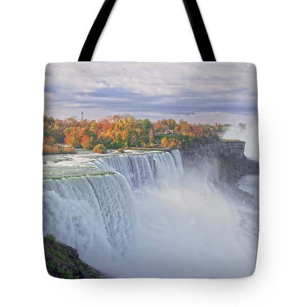 Niagara Falls In Autumn Tote Bag