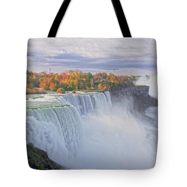 Niagara Falls In Autumn Tote Bag